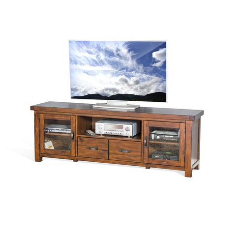 Sunny Designs Tuscany 74 Inch TV Console in Vintage Mocha