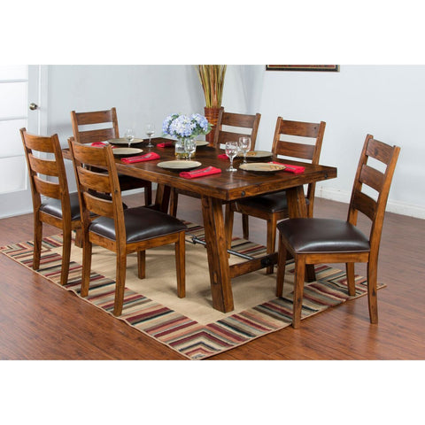 Sunny Designs Tuscany Dining Table with Turn Buckle