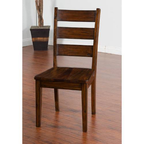 Sunny Designs Tuscany Ladder-back Chair with Wood Seat