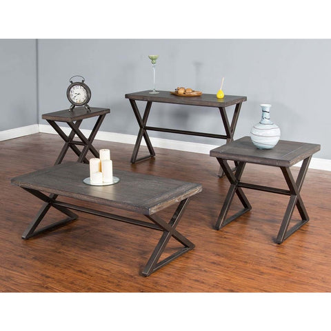 Sunny Designs Tyler 4 Piece Coffee Table Set in French