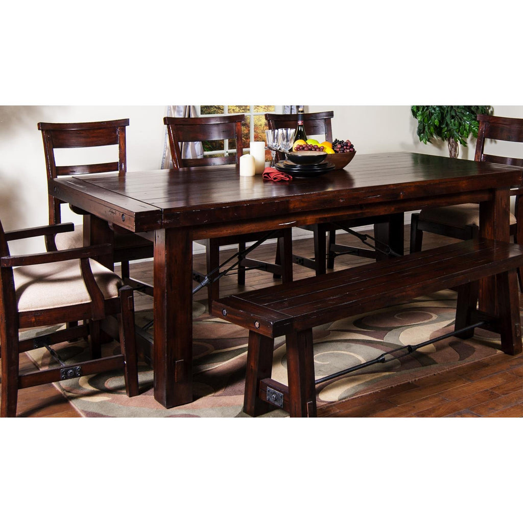 Beau Sunny Designs Vineyard Extension Table In Rustic Mahogany