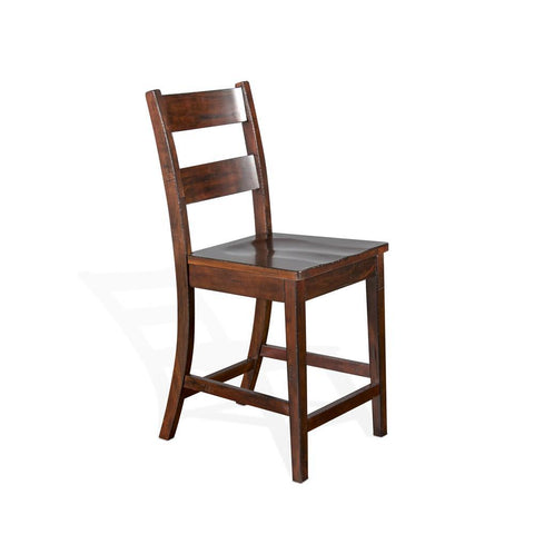 Sunny Designs Vineyard Ladderback Barstool in Rustic Mahogany