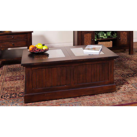 Sunny Designs Woodland Trunk Coffee Table In Dark Tobacco