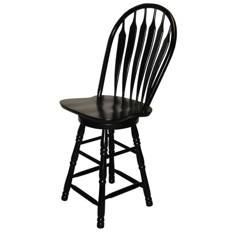Sunset Trading 30 Inch Swivel Barstool in Antique Black
