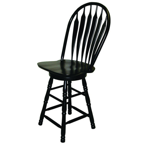 "Sunset Trading 24"" Comfort Barstool in Antique Black"