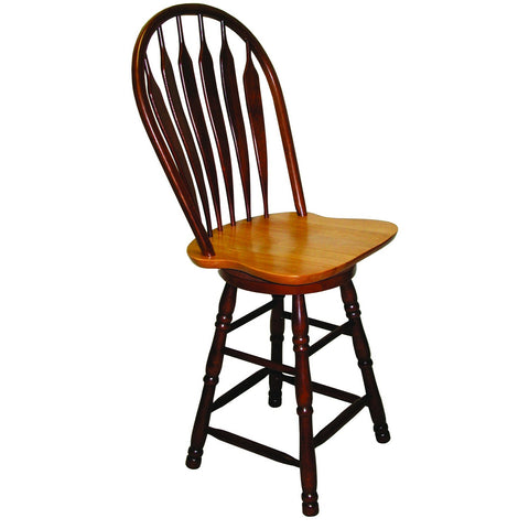 "Sunset Trading 24"" Comfort Barstool in Nutmeg Light Oak Finish"