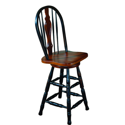 "Sunset Trading 24"" Keyhole Barstool in Antique Black and Keyhole"