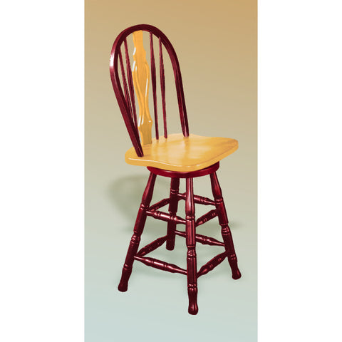 "Sunset Trading 24"" Keyhole Barstool in Nutmeg Light Oak Finish"