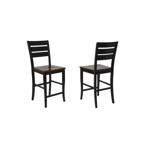 Sunset Trading 24 Inch Quincy Barstool in Black w/Cherry Seat