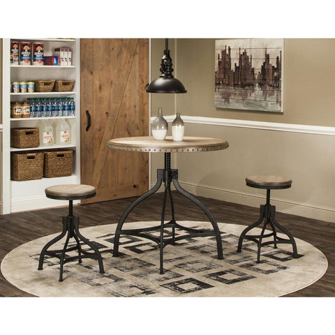 Sunset Trading 3 Piece Industrial Revolution Adjustable Height Dining Set