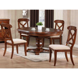 Sunset Trading 5 Piece Andrews Butterfly Leaf Dining Table Set in Distressed Chestnut