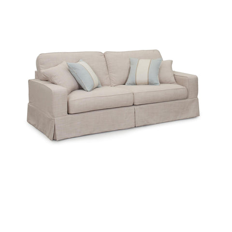 "Sunset Trading American 88"" Sofa With Slipcover in Linen"
