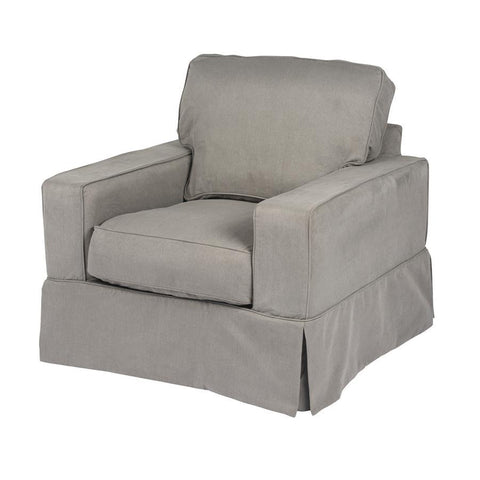 Sunset Trading Americana Chair - Slip Cover Set Only - Performance Gray
