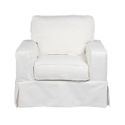 Sunset Trading Americana Slipcovered Chair - Performance White