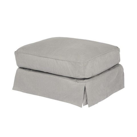 Sunset Trading Americana Slipcovered Ottoman - Performance Gray