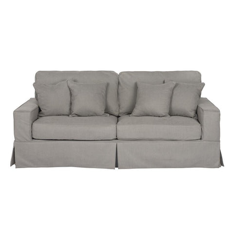 Sunset Trading Americana Sofa - Slip Cover Set Only- Performance Gray