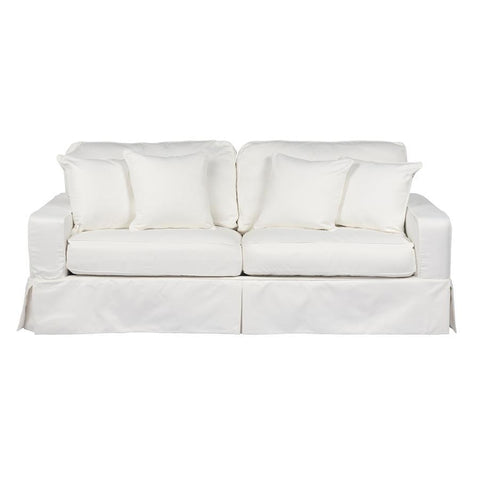 Sunset Trading Americana Sofa - Slip Cover Set Only- Performance White
