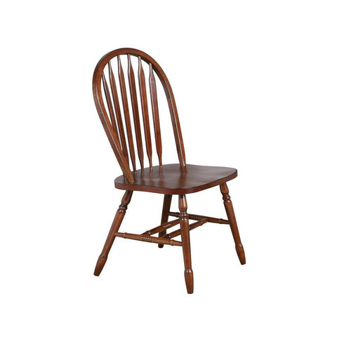 Sunset Trading Andrews Arrowback Dining Chair in Chestnut