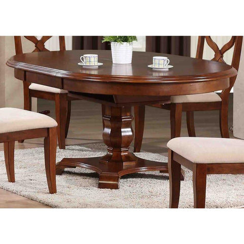 Sunset Trading Andrews Butterfly Leaf Dining Table in Distressed Chestnut
