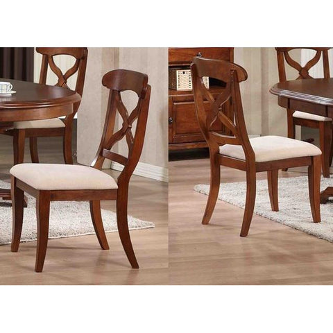 Sunset Trading Andrews Dining Chair in Distressed Chestnut