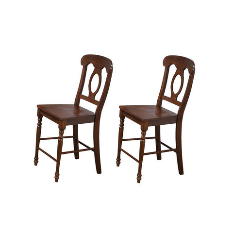 Sunset Trading Andrews Napoleon Barstool in Distressed Chestnut