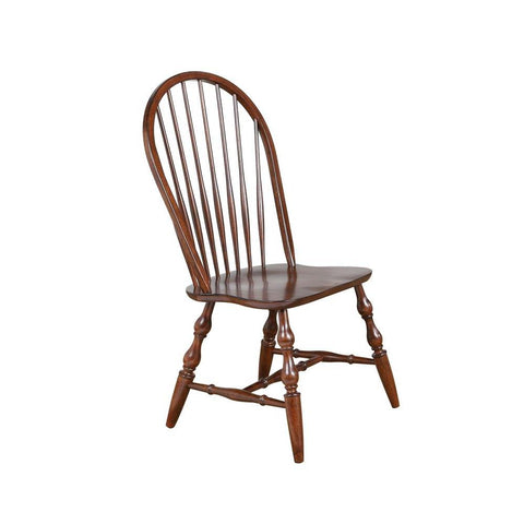 Sunset Trading Andrews Windsor Spindleback Dining Chair in Distressed Chestnut