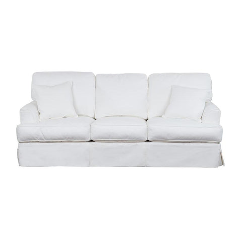 Sunset Trading Ariana Slipcovered Sleeper Sofa - Performance White