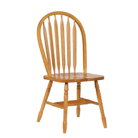 Sunset Trading Arrowback Dining Chair in Light Oak