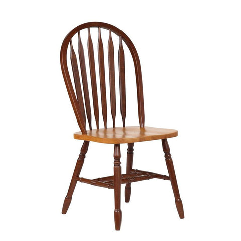 Sunset Trading Arrowback Dining Chair in Nutmeg w/Light Oak Seat