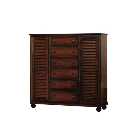 Sunset Trading Bahama Shutter Wood Armoire in Tropical Walnut