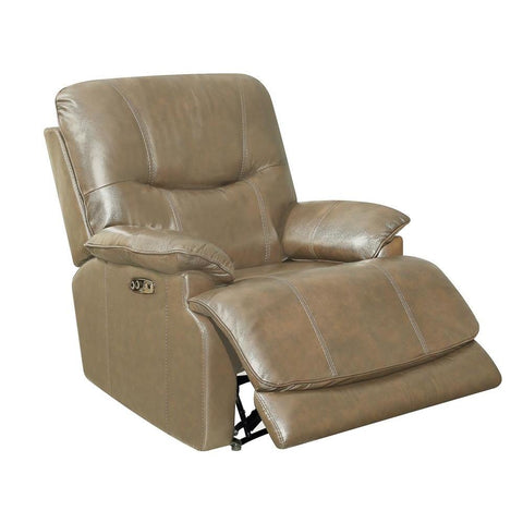 Sunset Trading Baltic Recliner w/Power Headrest & Lumbar - Tan