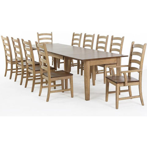 Sunset Trading Brook 11 Piece Rectangular Extension Dining Set