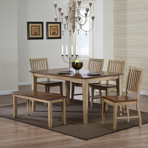 Sunset Trading Brook 6 Piece Rectangular Dining Set w/Bench