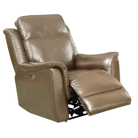 Sunset Trading Bryson Recliner w/Power Headrest & Lumbar - Tan