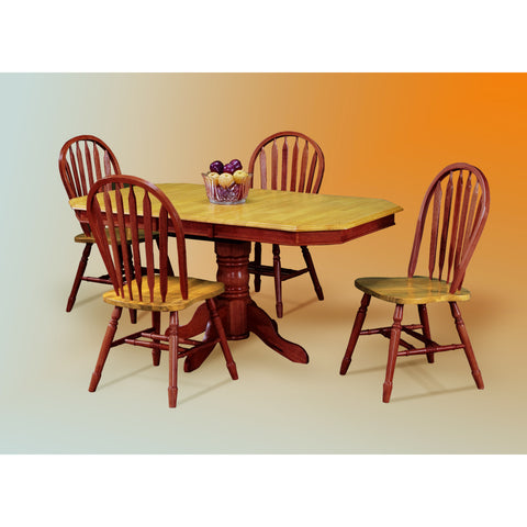 Sunset Trading Clipped Edge Table and Four Arrowback Chairs