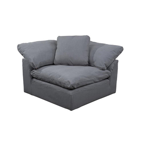 Sunset Trading Cloud Puff Sofa Sectional Modular Arm Chair - Slip Cover Set Only - Performance Gray