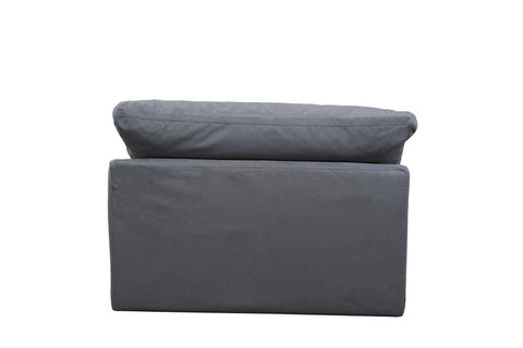 Sunset Trading Cloud Puff Sofa Sectional Modular Chair - Slip Cover Set Only - Performance Gray