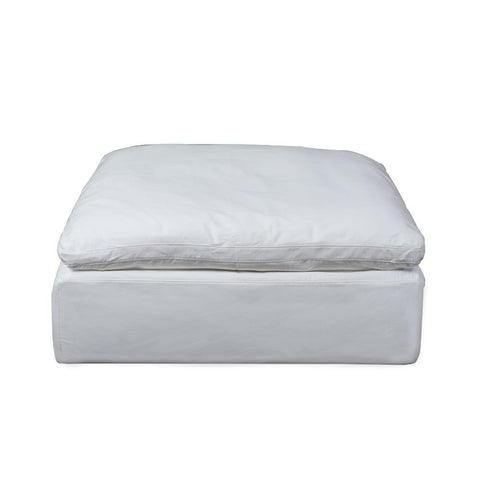Sunset Trading Cloud Puff Square Modular Ottoman - Slip Cover Set Only - Performance White