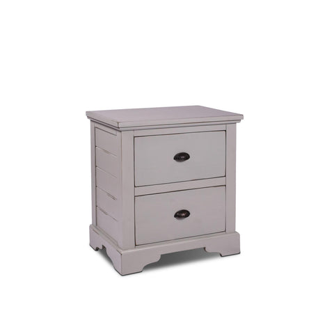 Sunset Trading Coastal Charm 2 Drawer Nightstand in Passion Gray