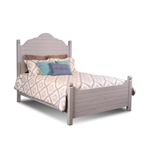 Sunset Trading Coastal Charm Queen Bed in Passion Gray