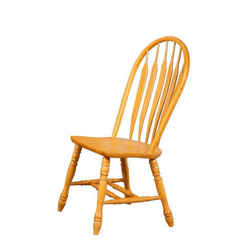 Sunset Trading Comfort Back Dining Chair in Light Oak