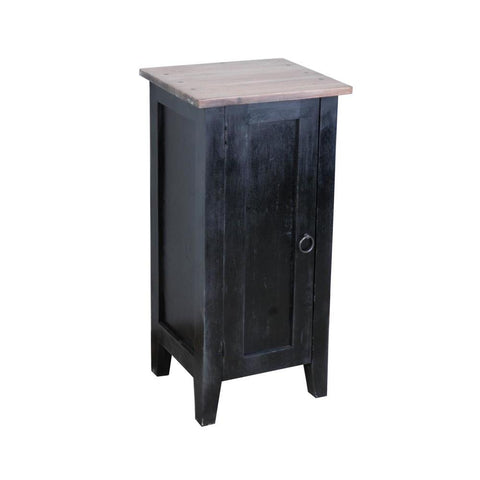 Sunset Trading Cottage 1 Door Accent Cabinet in Antique Black