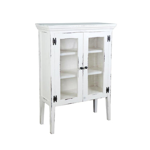 Sunset Trading Cottage 2 Door Accent Cabinet in Whitewash