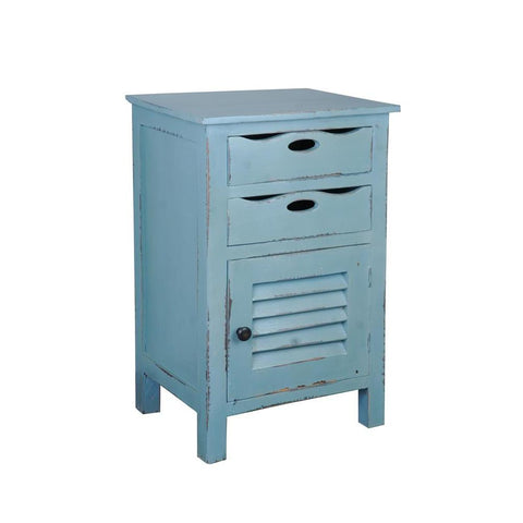 Sunset Trading Cottage Beach Blue Accent Table in Distressed