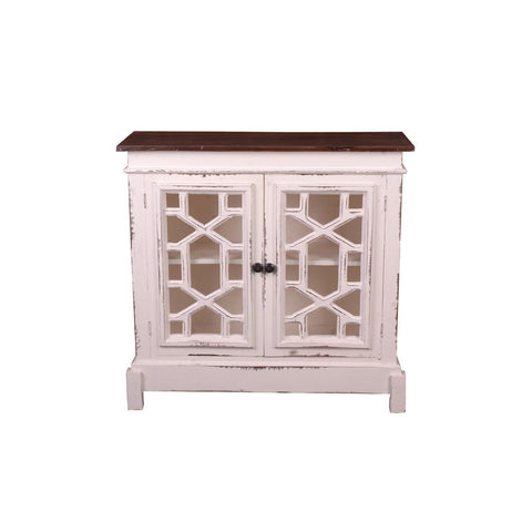 Sunset Trading Cottage Lattice Cabinet