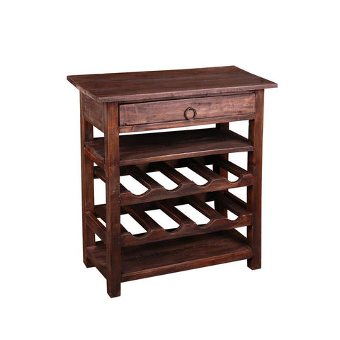 Sunset Trading Cottage Wine Server w/Drawer in Raftwood