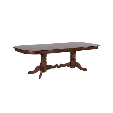 Sunset Trading Double Pedestal Extension Dining Table