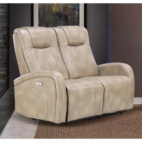 Sunset Trading Easy Living Swiss Dual Reclining Loveseat w/USB in Sierra Cream