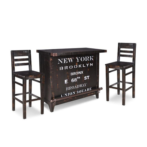 Sunset Trading Graphic 3 Piece 12 Bottle Wine Bar Set w/Storage