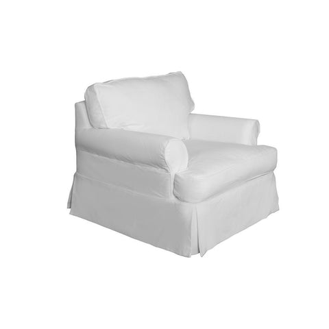 Sunset Trading Horizon Chair - Slip Cover Set Only - Warm White